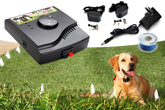 Underground Electric Dog Fence System with Collars for 2 Dogs