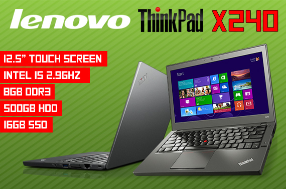 Brand New Lenovo ThinkPad X240 Ultrabook w/ Touch Screen