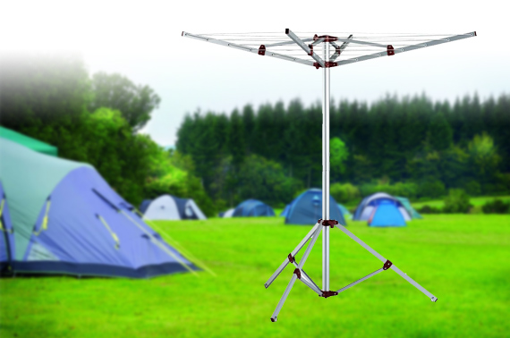 Portable 4-Arm Aluminium Camping Clothes Line