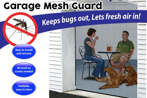 Magnetic Garage Mesh Guard for Single Car Garage