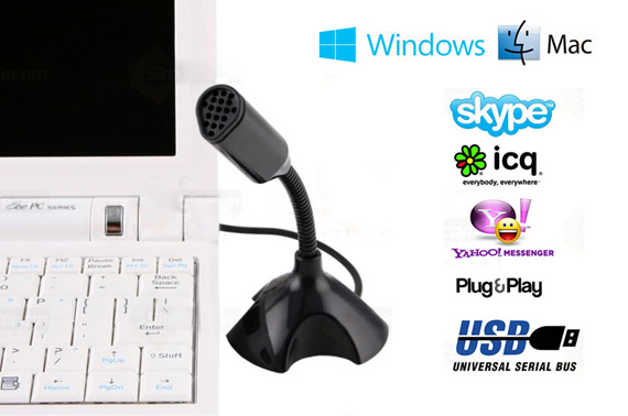 USB Desktop Microphone for Laptop PC MAC