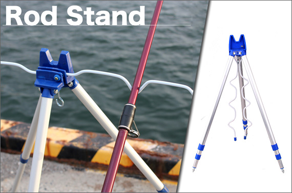 Portable 5 Fishing Rod Tripod Holder