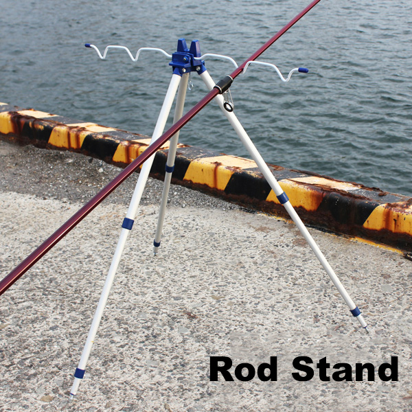Portable 5 fishing rod tripod holder for Portable fishing rod holder