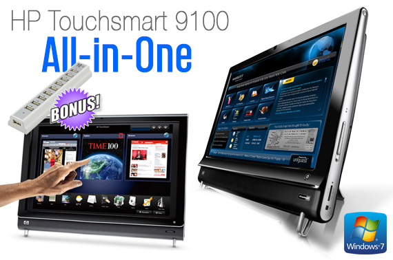 Ex-Lease HP Touchsmart 9100 ALL-IN-ONE 23