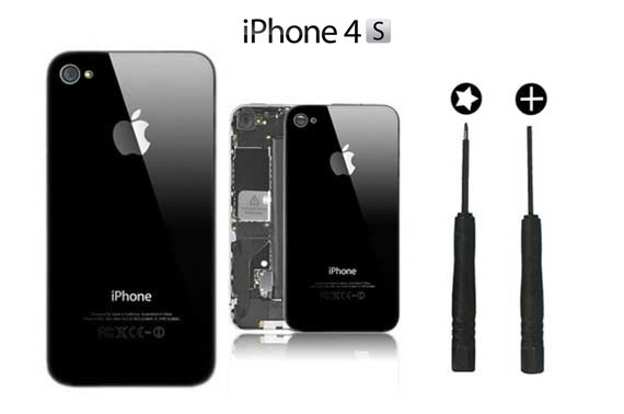 iPhone 4S Back Glass Replacement BLACK
