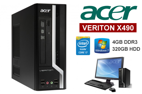 Ex-lease Acer Veriton X490 SFF Desktop PC
