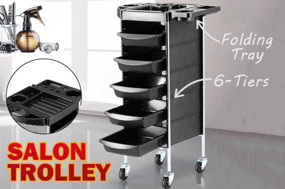 6 Tiers Multifunction Hair Salon Trolley