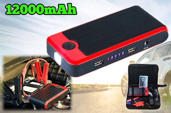 12000mAh Portable Car Jump Starter/Power Bank