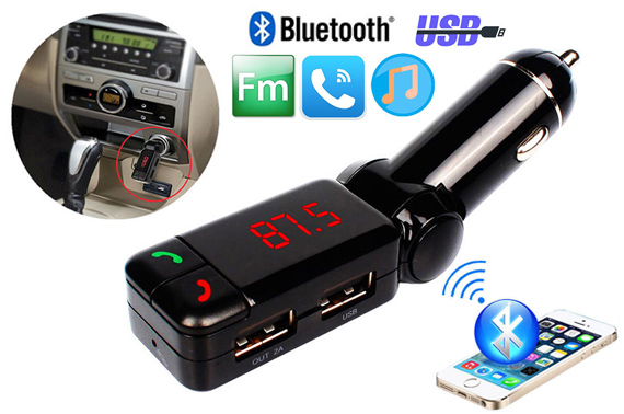 Wireless Bluetooth Handsfree Dual USB Car Kit