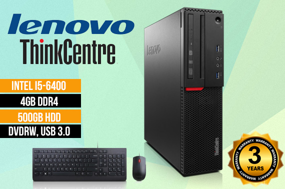 Lenovo ThinkCentre M700 i5 SFF Desktop PC w/ Keyboard & Mouse