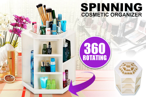 360 Degree Rotatable Makeup Cosmetic Organizer