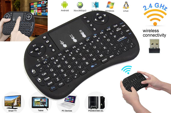2.4GHz Wireless Keyboard with Touchpad for Smart TV Box