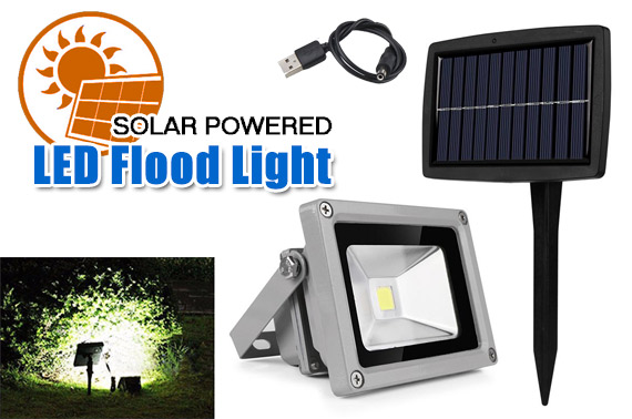 10W Solar Powered Outdoor LED Flood Light