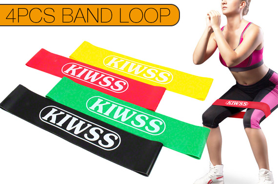 4PCS Heavy Duty Resistance Stretch Band Loop