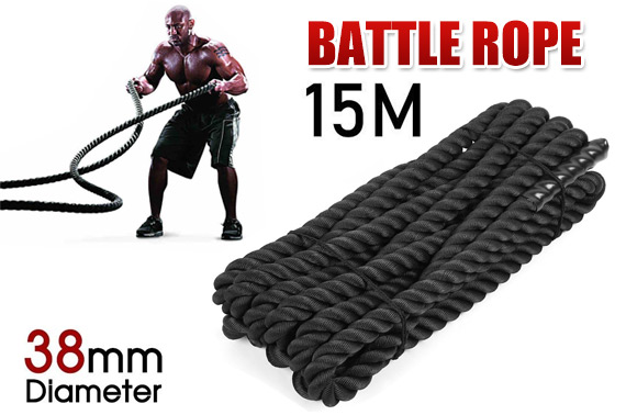 15M Strength Training Heavy Battle Rope