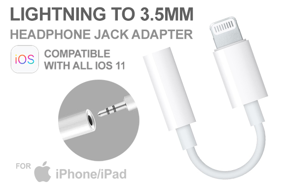 Free Ozstock Deal: Lightning to 3.5mm Headphone Adapter Jack Cable For Apple iPhone 7 8 XPlus