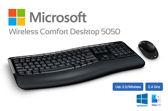 Microsoft Wireless Comfort Desktop 5050 Series Usb Mouse & Keyboard