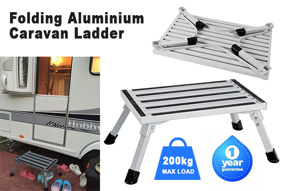 Portable Folding Aluminium Step Ladder Stool