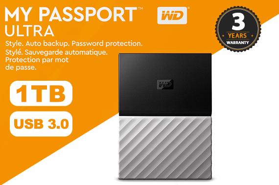 1TB WD MY PASSPORT ULTRA USB3 0 Portable External Hard Drive