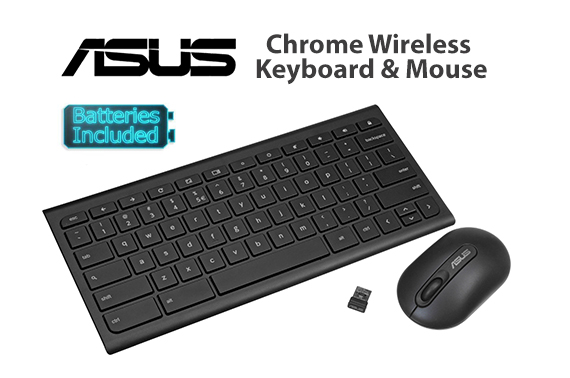 ASUS Chromebox KBM Wireless Keyboard & Mouse Combo OEM INCLUDED BATTERIES