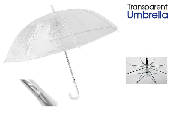 Umbrella Transparent Clear Mushroom Umbrella Handle Dome