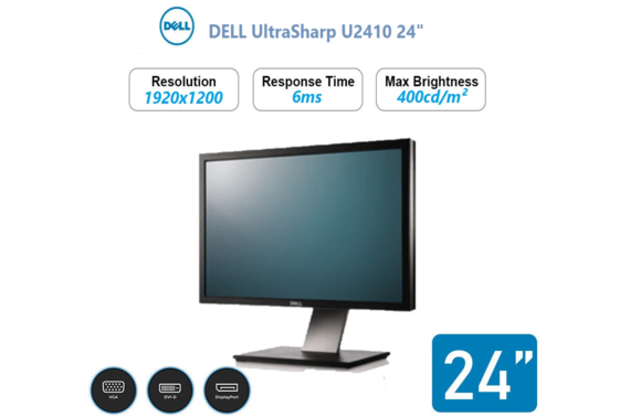 Refurbished Dell U2410 LCD Monitor 24 Inch Widescreen
