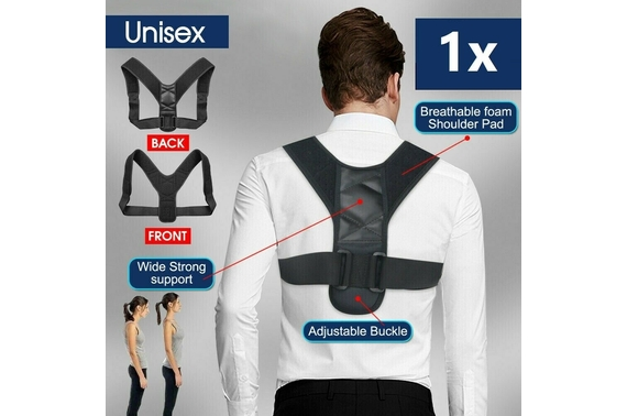 Posture Adjustable Corrector Straight Shoulder Brace Strap Support Men Women