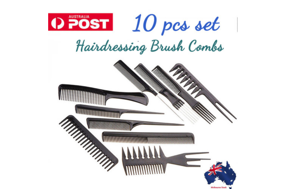 10Pcs Hair Styling Plastic Brush Combs Set