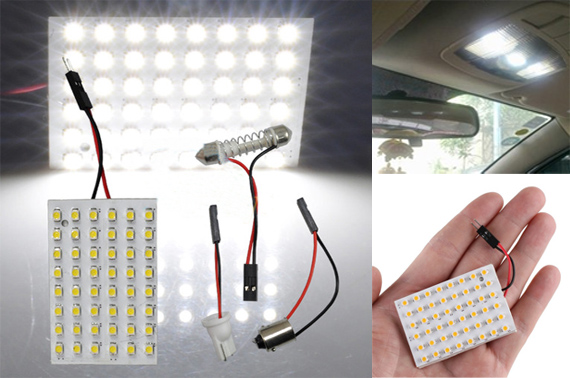 12V 48 SMD White LED Light Panel