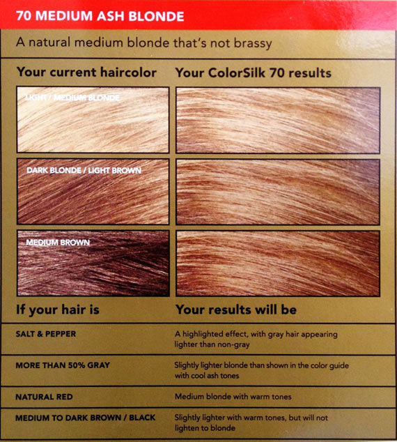 Revlon Colorsilk Beautiful Color 70 Medium Ash Blonde