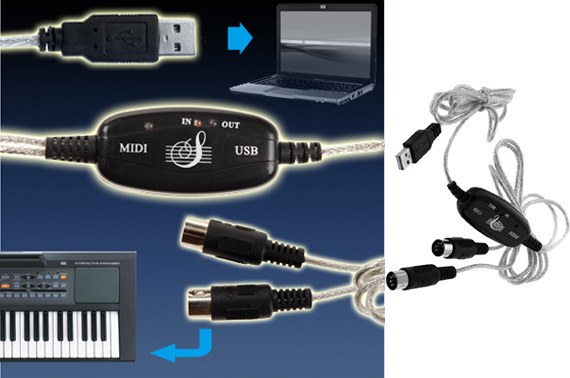 USB To MIDI Keyboard Interface Adapter Cable