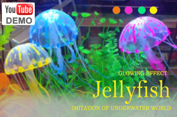 Small Glowing Artificial Jellyfish for Aquarium