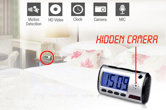 Digital Spy-Cam Alarm Clock