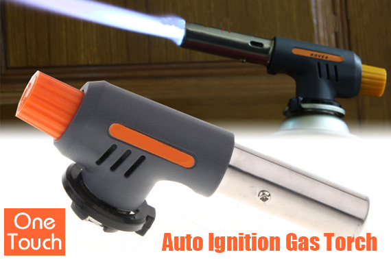 Multi-Purpose One-Touch Auto Ignition Gas Torch