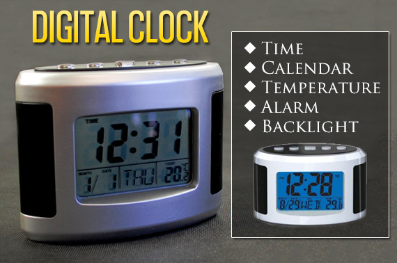 Multi-functional Table Digital Clock with LCD Display and Backlight