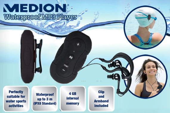 Refurbished Waterproof Medion S60017 (MD 84037) Sports MP3 Player