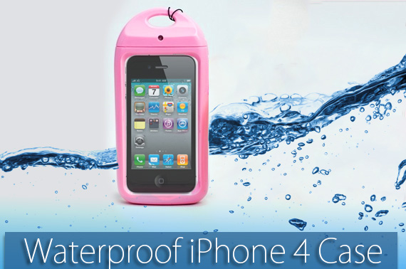 Pink Waterproof Case for iPhone 4S/4
