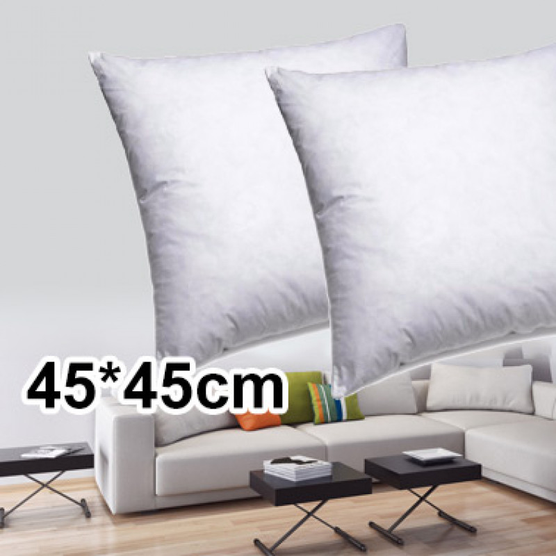 2x 45*45cm Polyester Filling Cushion Pillow Inserts
