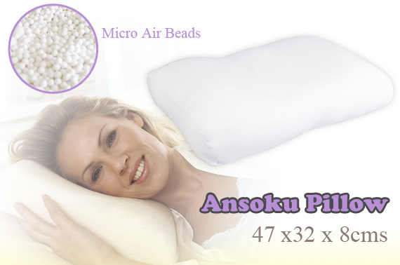 Ansoku Pillow - Filled with Over 10 Million Air Beads