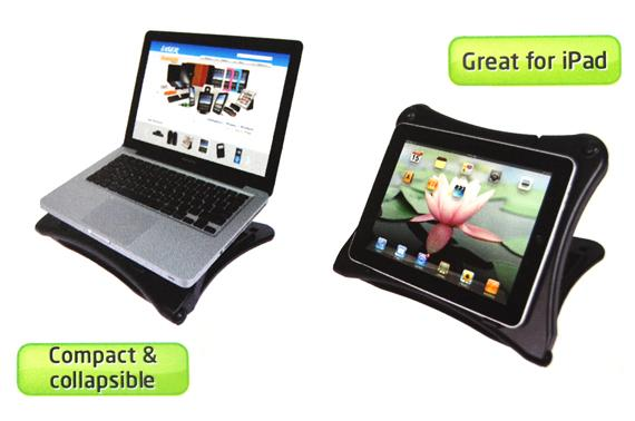 Adjustable Non-Skid Laptop/iPad Riser Stand with Air Vents