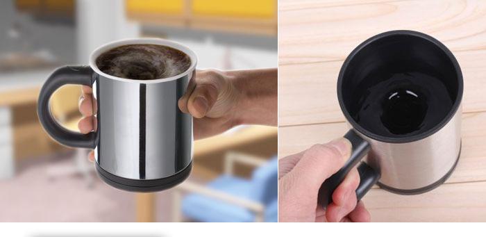Self Stirring Coffee Mug With Spill Proof Lid