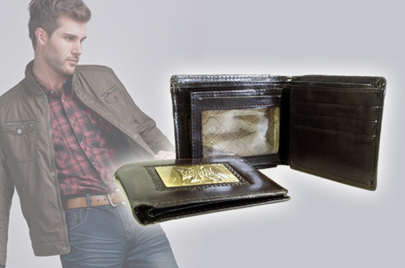 Super FREE Ozstock Day: Men's Wallet with Unique Front Metal Design - Randomly Picked