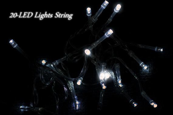 Battery Operated 20-LED 2.3m Fairy Light String