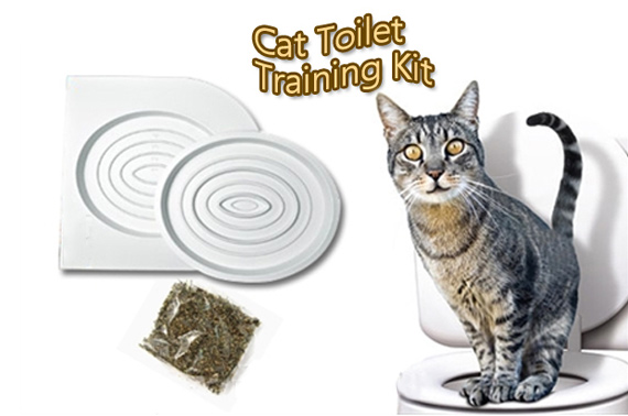 Cat Toilet Training Kit - Works with Cats of All Sizes & Ages