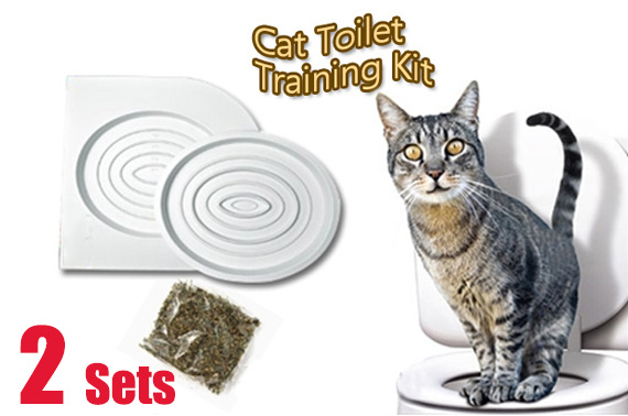 2x Cat Toilet Training Kit - Works with Cats of All Sizes & Ages