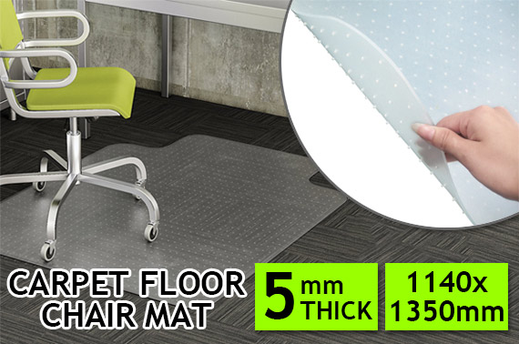 Carpet Floor Chair Mat 1140 x 1350mm