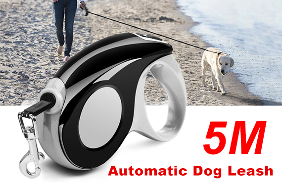 5M Heavy Duty Pet Dog Automatic Retractable Leash Strap