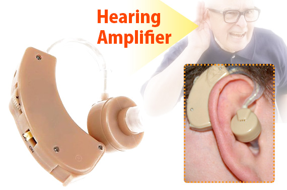 Adjustable Hearing Aid Sound Amplifier with Volume Control