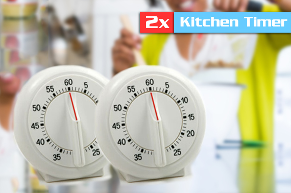 Super FREE Ozstock Day: 2x Classic Kitchen Timer