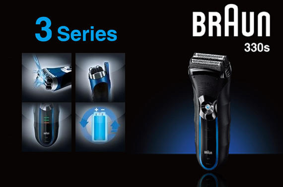 Braun Series 3 330s-4 Men's Electric Cordless Rechargeable Shaver Trimmer